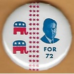 Nixon 98F - (Nixon) For 72 Campaign Button