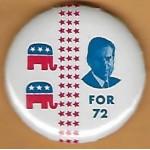 Nixon 98F - (Nixon) For 72 Campaign Button