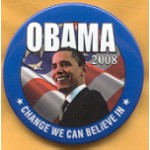 Obama 57A - Change We Can Believe In Obama '08 Campaign Button
