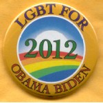 Obama 19B - LGBT For Obama Biden 2012 Campaign Button