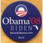 Obama 20B - Obama Biden '08 Campaign Button
