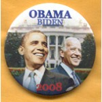 Biden 8A- Obama Biden 2008 Campaign Button