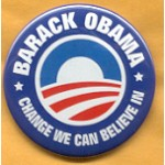 Obama 41A - Barack Obama Change We Can Believe In Campaign Button