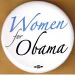 Obama 44E - Women for Obama Campaign Button