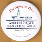 Obama 4E - Garden State Inaugural Gala January 20th, 2013 Campaign Button