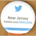 Obama 4F - New Jersey Twitter.com/#DNC2012 Campaign Button