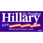 Hillary 21D - Hillary for President Bumper Sticker