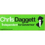 NJ 44A - Chris Daggett independent for Governor Bumper Sticker