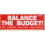 Cause 12R - Balance The Budget! The Concord Coalition Bumper Sticker
