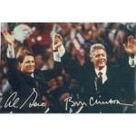 Clinton 128A - Al Gore Bill Clinton Post Card