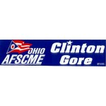Clinton 137B - Ohio AFSCME Clinton Gore Bumper Sticker