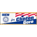 Clinton 139A - IBEW for Clinton Gore Bumper Sticker
