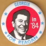 Reagan 105K - Georgia For Reagan in '84 Campaign Button