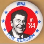 Reagan 107E - Iowa in '84 For Reagan Campaign Button