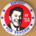Reagan 107G - Kentucky in '84 For Reagan Campaign Button