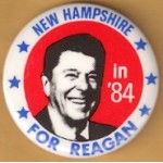 Reagan 108J - New Hampshire For Reagan in '84 Campaign Button