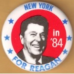 Reagan 109B - New York in '84 For Reagan Campaign Button