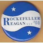 Reagan 11N - Rockefeller Reagan '68 Campaign Button