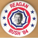 Reagan 12L -  Reagan Bush '84 Campaign Button