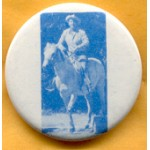 Reagan 14C - Ronald Reagan on horseback Campaign Button