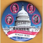 Reagan 17K -  51st Inauguration Reagan Bush January 21, 1985 Campaign Button
