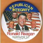 Reagan 21G - Republican Integrity 40th President Ronald Reagan January  21th, 1985 Campaign Button