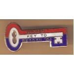 Reagan 30H - Women Key To Reagan '84 Lapel Pin