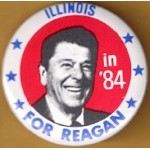 Reagan 107C - Illinois in '84 For Reagan Campaign Button