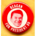 Reagan 39F - Reagan For President 80 Campaign Button