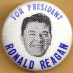 Reagan 51B - For President Ronald Reagan Campaign Button
