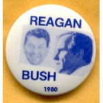 Reagan 33E - Reagan  Bush 1980 Campaign Button