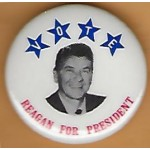 Reagan 5L - Vote Reagan For President Campaign Button