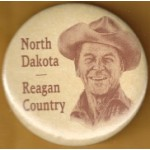 Reagan 7K - North Dakota Reagan Country Campaign Button