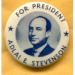 Stevenson 3B - For President Adlai E. Stevenson Campaign Button