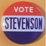 Stevenson 9A - Vote  Stevenson Campaign Button