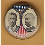 T.R. 1J - (Roosevelt Fairbanks) Campaign Button
