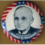 Truman 8B - President Harry S. Truman Campagin Button