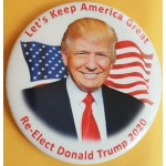 Trump 15J - Let's Keep America Great Re - Elect Donald Trump 2020 Campaign Button