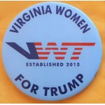 Trump 19A - Virginia Women For Trump Campaign Button