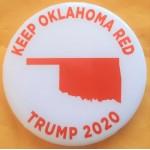 Trump 19B - Keep Oklahoma Red Trump 2020 Campaign Button