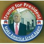 R15J - Trump for President Make America Great Again Campaign Button