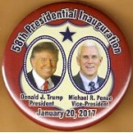 R58M - 58th Presidential Inauguration  Donald J. Trump President Michael R. Pence Vice President Campaign Button