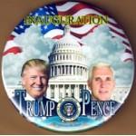 Trump 4N - Inauguration  Trump  Pence   Campaign Button