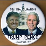 Trump 8N - 58th Inauguration  Trump President Pence Vice President January 20th, 2017  Campaign Button