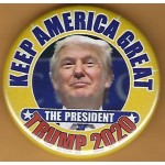 R2020 B1 - Keep America Great The President Trump 2020 Campaign Button
