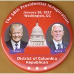 Trump 9V - 58th Presidential Inauguration  Trump  Pence District of Columbia Republican Campaign Button
