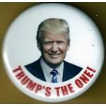 Trump 9Z - Trump's The One Campaign Button