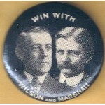 Wilson 9A - Win With Wilson And Marshall Campaign Button