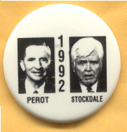 Perot 1992 campaign button.
