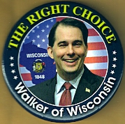 Scott Walker 2016 campaign button.